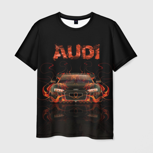 Мужская футболка 3D  Фото 03, AUDI в огоне