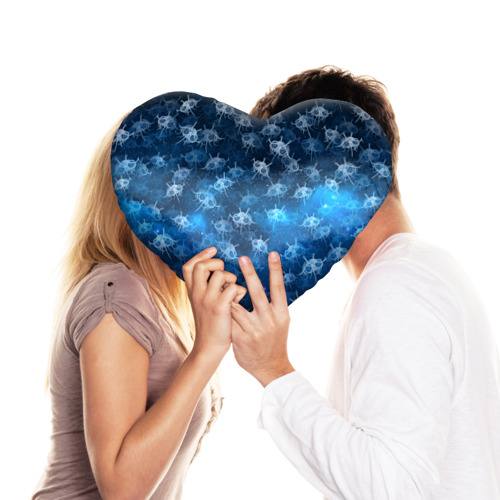 Подушка 3D сердце  Фото 03, Летающие макаронные монстры