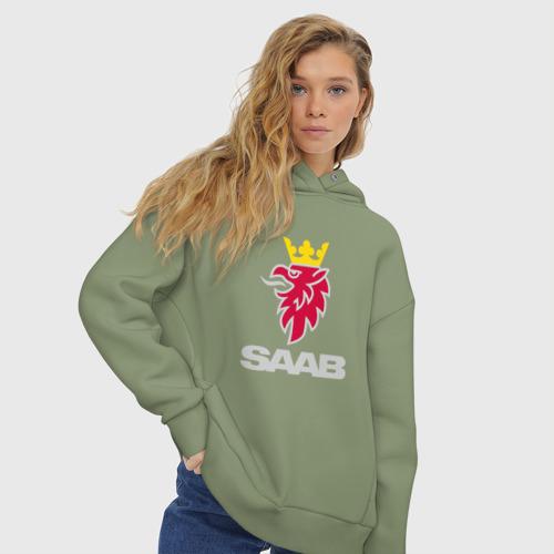 Женское худи Oversize хлопок Saab Фото 01