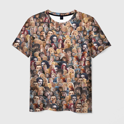 Мужская футболка 3D  Фото 03, Игра престолов. Стикербомбинг