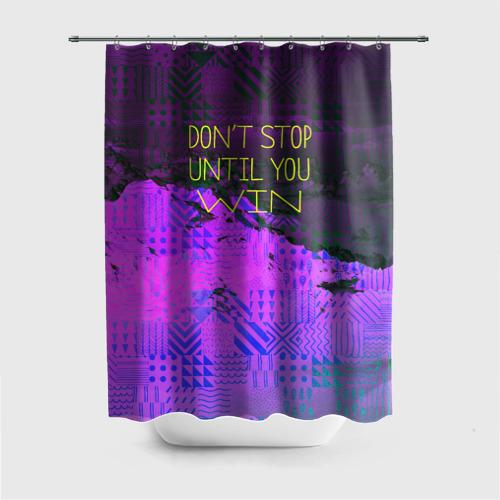 Штора 3D для ванной  Фото 01, Не сдавайся!
