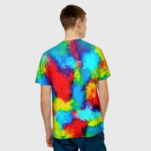 Мужская футболка 3D  Фото 02, Буйство акварели
