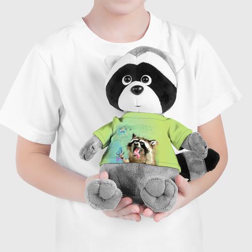 Игрушка Енотик в футболке 3D Енот и рыбка Фото 01