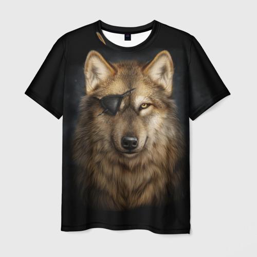 Мужская футболка 3D  Фото 01, Морской волк