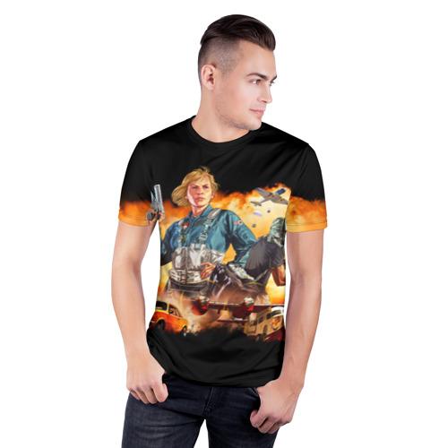 Мужская футболка 3D спортивная  Фото 03, GTA 5 Online: SMUGGLER'S RUN