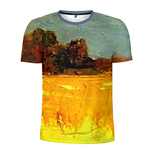 Мужская футболка 3D спортивная  Фото 01, Картина маслом