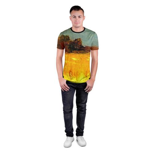 Мужская футболка 3D спортивная  Фото 04, Картина маслом