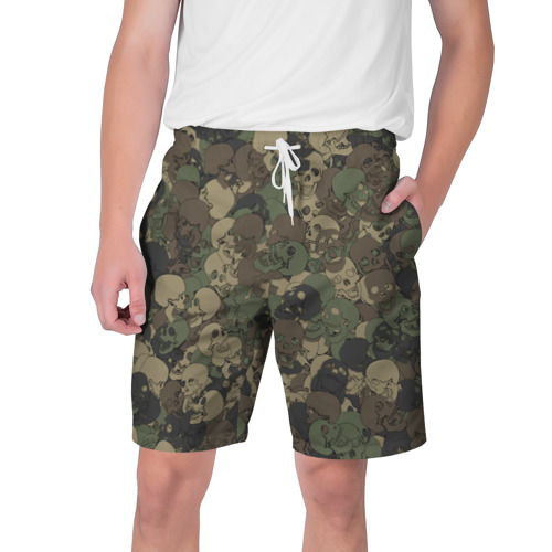 Мужские шорты 3D  Фото 01, Камуфляж с черепами