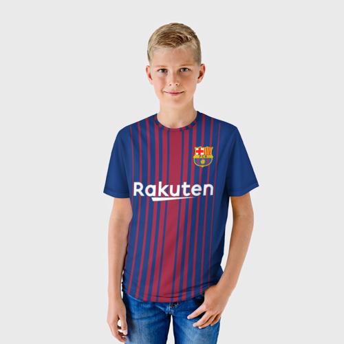 Детская футболка 3D 'Лионель Месси'
