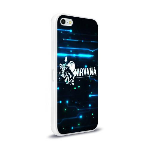 Чехол для Apple iPhone 5/5S силиконовый глянцевый  Фото 02, Схема Nirvana (Курт Кобейн)