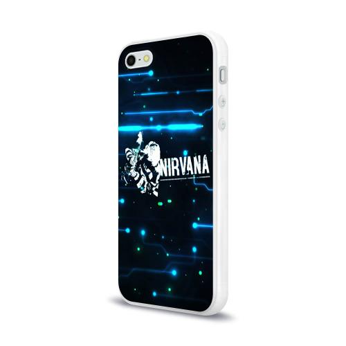Чехол для Apple iPhone 5/5S силиконовый глянцевый  Фото 03, Схема Nirvana (Курт Кобейн)