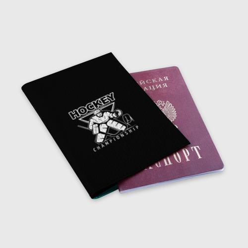 Обложка для паспорта матовая кожа  Фото 03, Hockey Championship