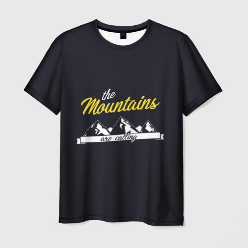 Мужская футболка 3D  Фото 03, Горы зовут
