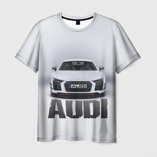 Мужская футболка 3D  Фото 03, Audi серебро