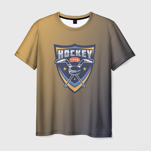 Мужская футболка 3D  Фото 01, Хоккей
