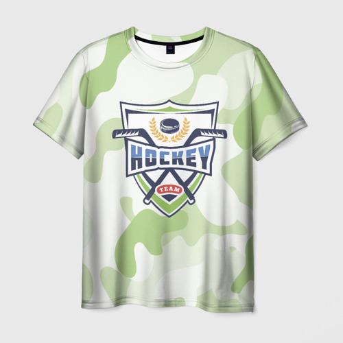 Мужская футболка 3D  Фото 01, Live hockey