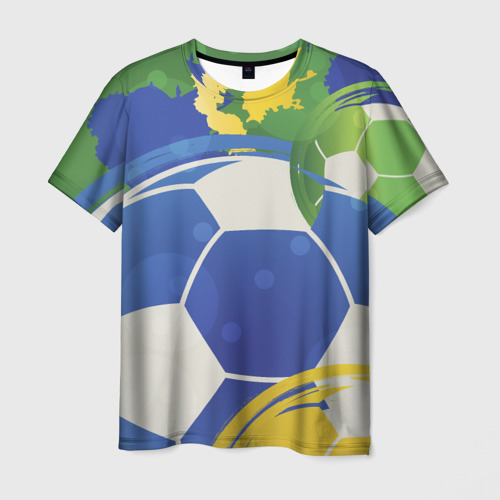Мужская футболка 3D  Фото 03, Яркий футбол