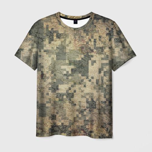 Мужская футболка 3D  Фото 01, Khaki 2