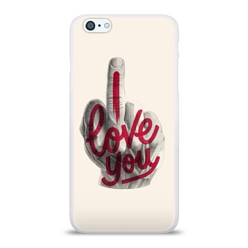 Чехол для Apple iPhone 6Plus/6SPlus силиконовый глянцевый  Фото 01, I Love You