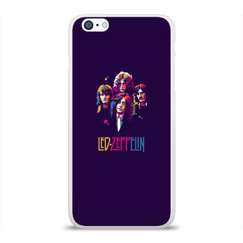 Чехол для Apple iPhone 6Plus/6SPlus силиконовый глянцевый  Фото 01, Led Zeppelin Color