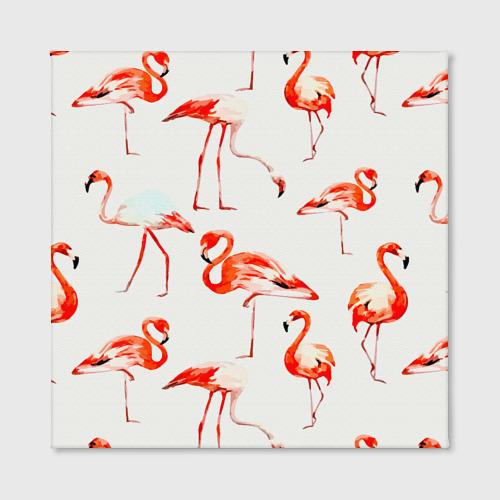 Холст квадратный  Фото 02, Фламинго