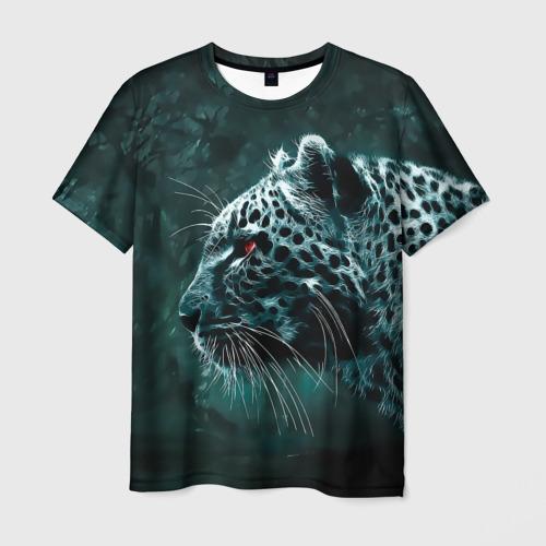 Мужская футболка 3D  Фото 01, Леопард