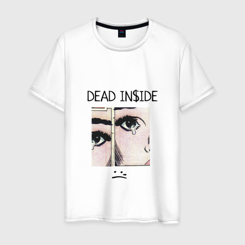 Мужская футболка хлопок Dead Inside / Мертвый Внутри