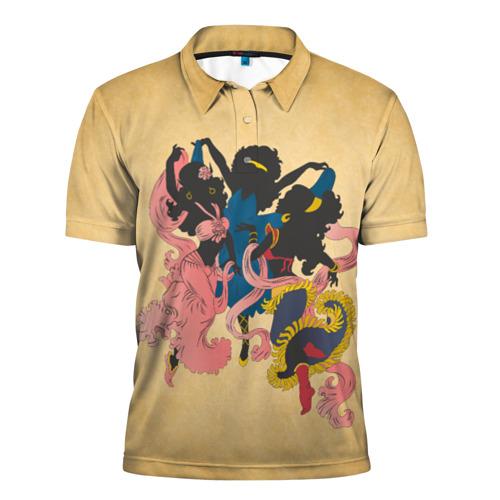 Мужская рубашка поло 3D  Фото 01, Солнечные эльфы