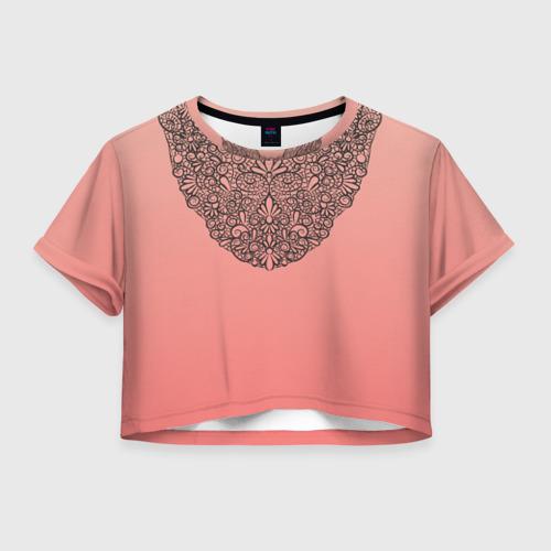 Женская футболка Cropp-top Кружевной воротник Фото 01