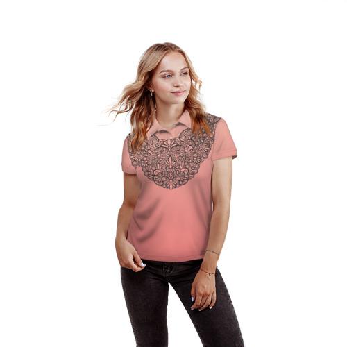 Женская рубашка поло 3D Кружевной воротник Фото 01
