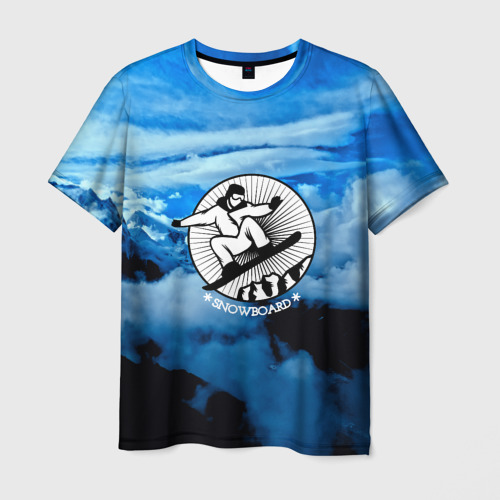 Мужская футболка 3D  Фото 01, Snowboard