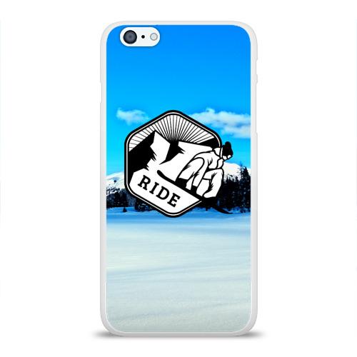 Чехол для Apple iPhone 6Plus/6SPlus силиконовый глянцевый  Фото 01, Лыжный спорт