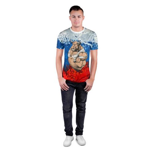 Мужская футболка 3D спортивная  Фото 04, Буйвол