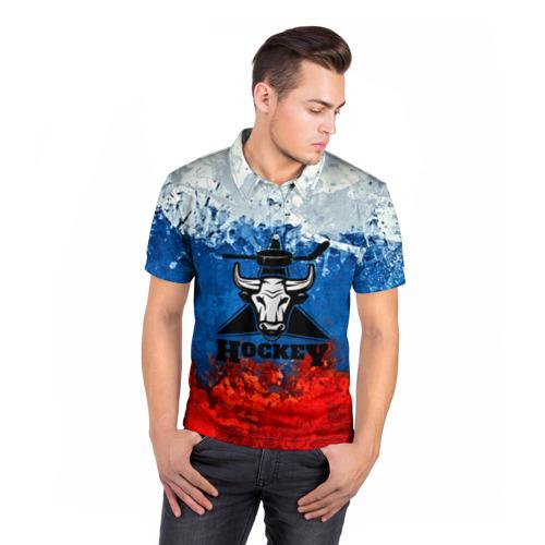 Мужская рубашка поло 3D  Фото 05, Русский хоккей