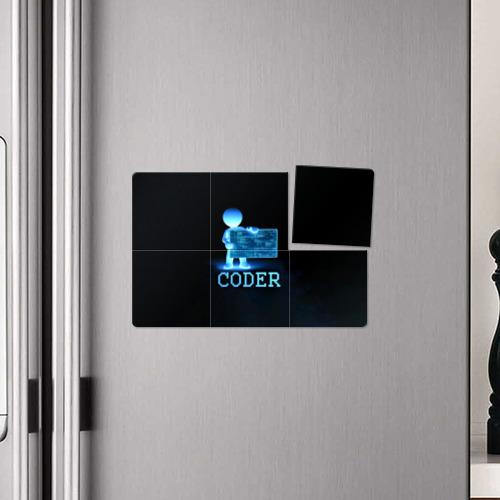 Магнитный плакат 3Х2 Coder - программист кодировщик Фото 01