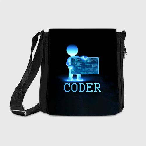 Сумка через плечо Coder - программист кодировщик Фото 01