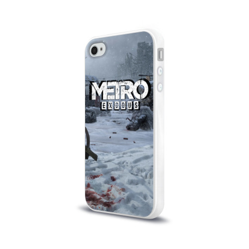 Чехол для Apple iPhone 4/4S силиконовый глянцевый METRO EXODUS Фото 01