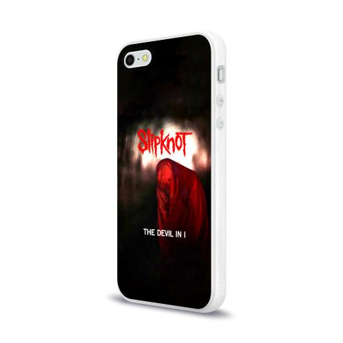 Чехол для Apple iPhone 5/5S силиконовый глянцевый  Фото 03, Slipknot - The devil in i