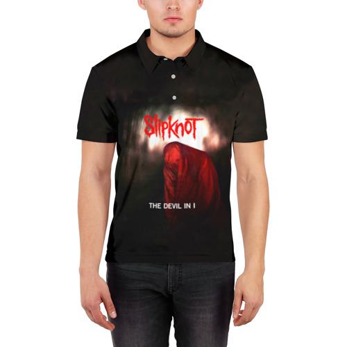 Мужская рубашка поло 3D  Фото 03, Slipknot - The devil in i