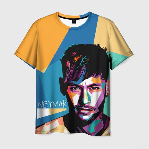Мужская футболка 3D  Фото 01, Neymar