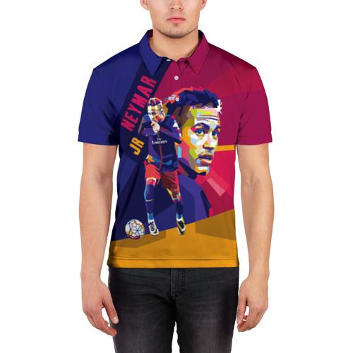 Мужская рубашка поло 3D  Фото 03, Neymar