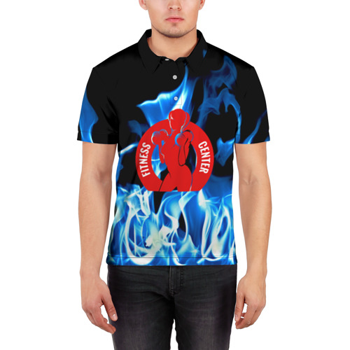 Мужская рубашка поло 3D  Фото 03, Фитнес центр