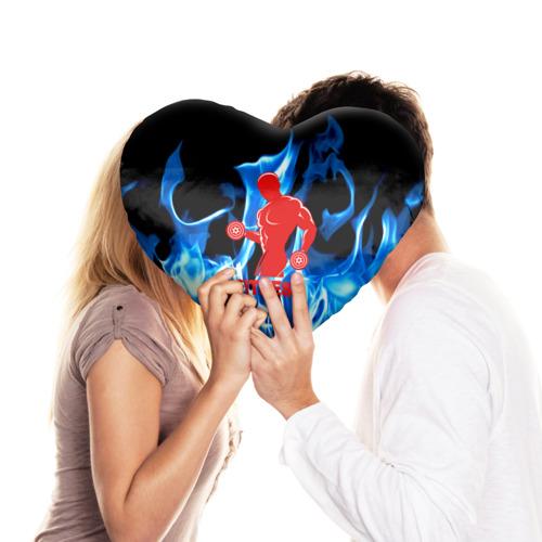 Подушка 3D сердце  Фото 03, Fitness