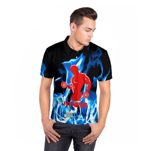 Мужская рубашка поло 3D  Фото 05, Fitness