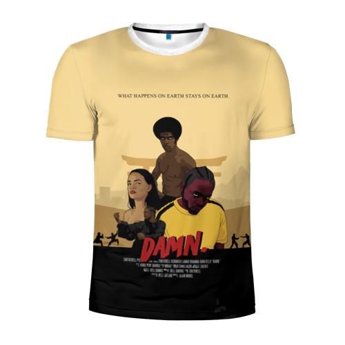 Мужская футболка 3D спортивная  Фото 01, Damn Kendrick Lamar