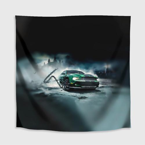 Скатерть 3D  Фото 02, Призрачный Ford Mustang
