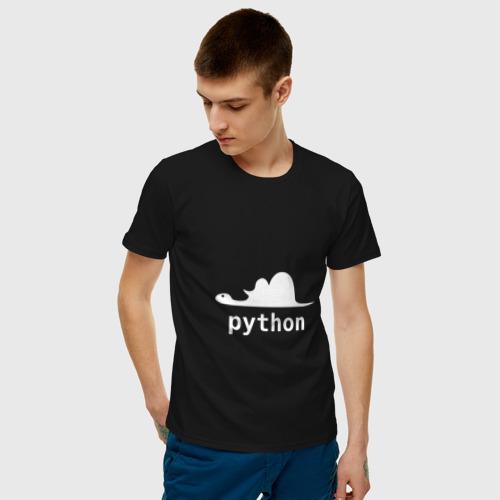 Мужская футболка хлопок Питон - язык программирования Фото 01