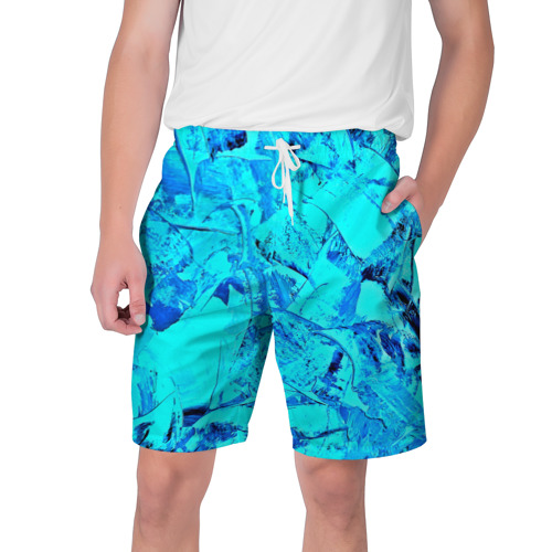 Мужские шорты 3D  Фото 01, Голубые краски