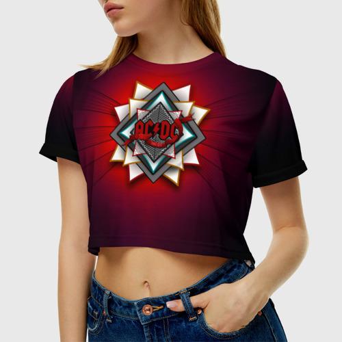 Женская футболка Cropp-top  Фото 01, AC/DC since 1973