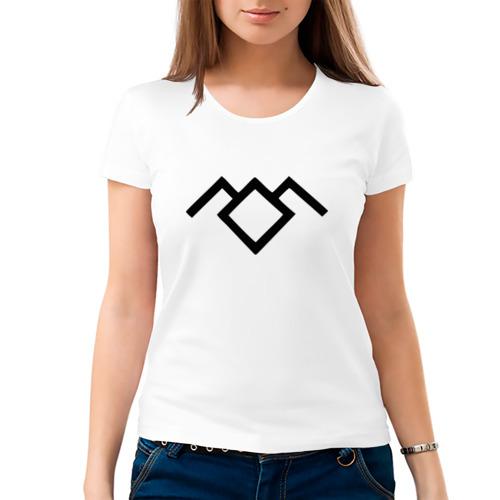 Женская футболка хлопок  Фото 03, Твин Пикс лого